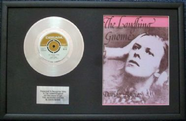"DAVID BOWIE - 7"" Platinum Disc & Song Sheet - THE LAUGHING GNOME"